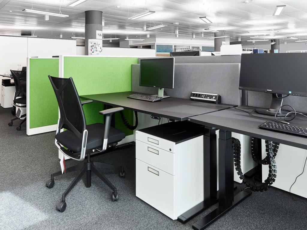 Arbeitsplatz grün